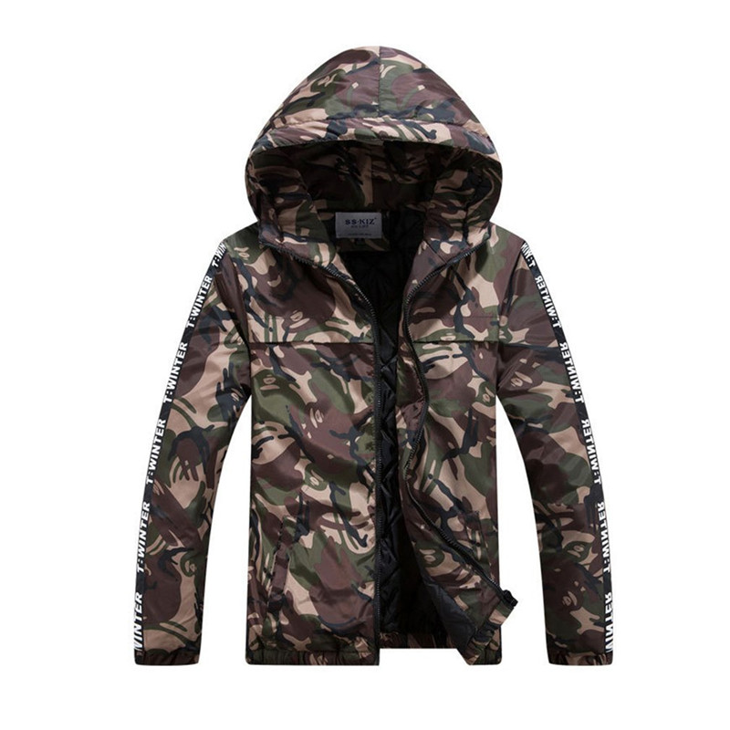 Men Camouflage Military Tactical Jacket 2017 Short Winter Waterproof Windproof Casual Padded Cotton Coat Warm Slim-cut Outerwear