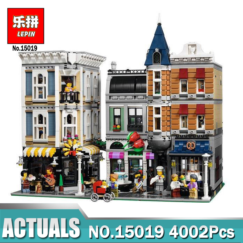 New Lepin 15019 4122pcs Creator Expert Series ASSEMBLY SQUARE Building Blocks Figures Model Bricks Compatible With Legoing 10255 2016 new lepin 15006 2354pcs creator palace cinema model building blocks set bricks toys compatible 10232 brickgift