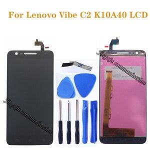"""Image 1 - 5.0 """"لينوفو فيبي C2 LCD + شاشة تعمل باللمس محول الأرقام مكون بديل لينوفو فيبي C2 K10A40 عرض إصلاح الملحقات"""