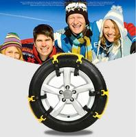 High quality3Pcs/Lot Universal TPU Snow Chains Suit 165 265mm Tyre Roadway Safety Tire Chains Snow Climbing Mud Ground Anti Slip