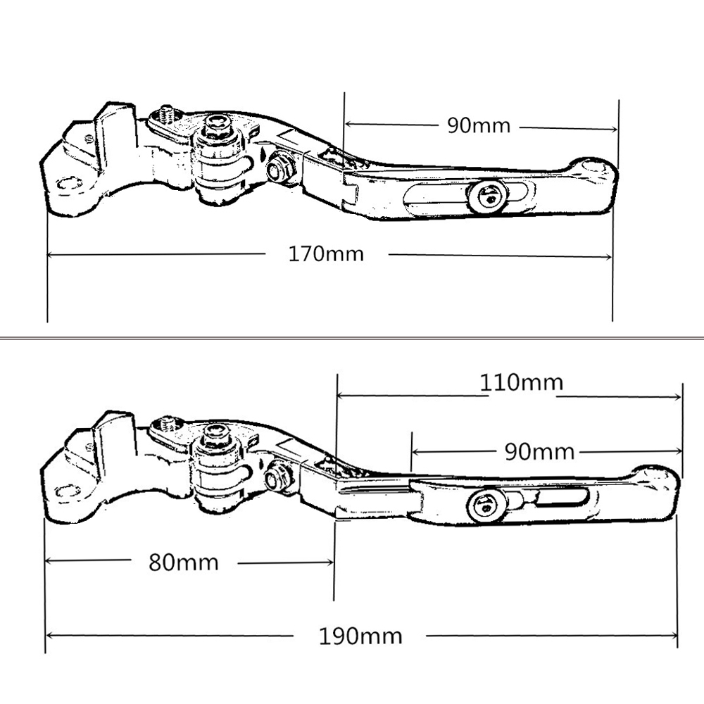 CNC Adjustable Folding Extendable Motorcycle Brake Levers Clutch ...