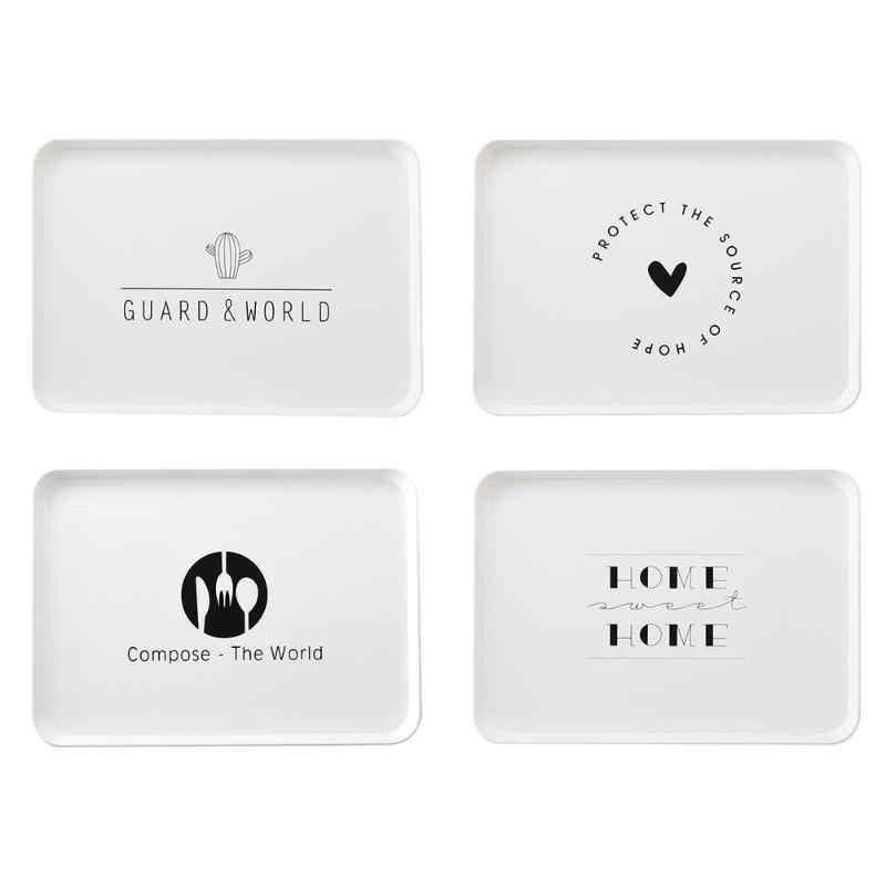 北欧スタイル茶朝食パントレイプラスチックデザートトレイスナックプレート収納プレート正方形アクセサリー化粧品皿