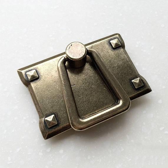 Купить с кэшбэком 1PC Antique Bronze Drop Ring Pulls Drawer Handles Knobs Dresser Knobs Pulls Vintage Handles Cabinet Knobs Handles