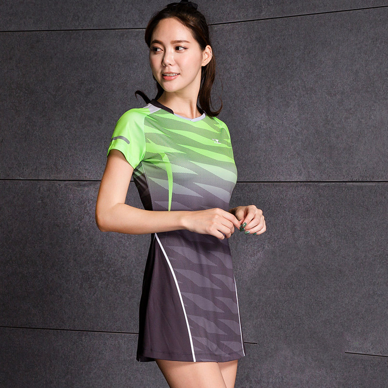 Sports Dress Women's Badminton Tennis Dress Spring Summer Clothing Slim With Safety Shorts