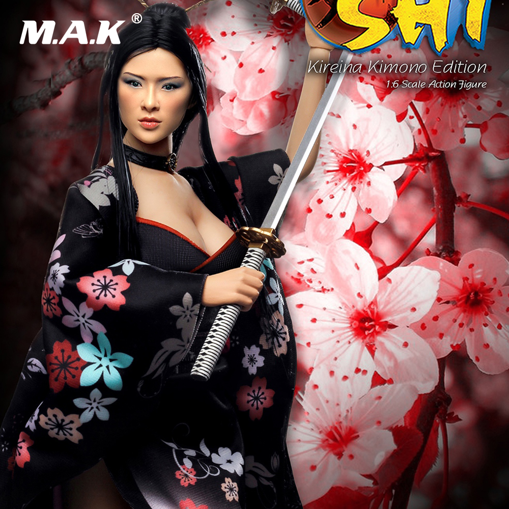 SHI in Kimono 1:6 Scale Figure U.S. Version Two Head Sculpts PL2014-71B-2 Steel Stainless Colletible Toys Action Figure
