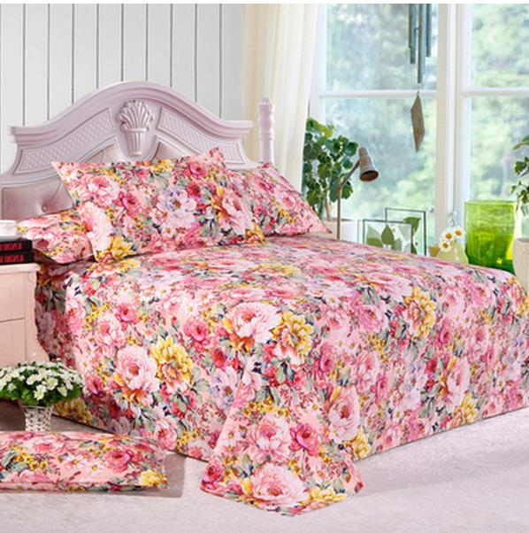 Bedding Free shipping Old 3pcs Sheet mill MAO single double student dormitory bed sheet pillowcase sheets