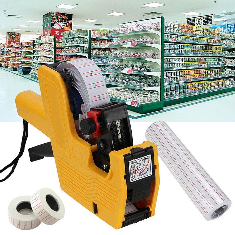 Cobee 10rolls Single Row Price Tag Paper Adhesive Label Sticker Supermarket White видеоигра бука saints row iv re elected