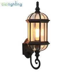 Luz de pared al aire libre, lámpara impermeable de pared del porche de la puerta delantera, aplique de decoración interior del hogar, lámpara de iluminación, accesorio de jardín de patio