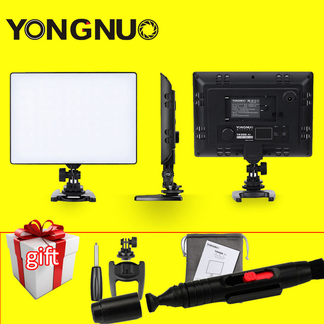 YONGNUO YN300 Air Ultra Thin LED Camera Video Light 3200K-5500K for Canon Nikon Pentax Olympas Samsung DSLR & Camcorder