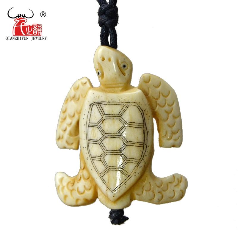 GX104 Hot výprodej Yak kosti ručně vyřezávané mořské želvy přívěsek muži náhrdelník Primitivní kmeny Šperky personalizované náhrdelník jako dárek