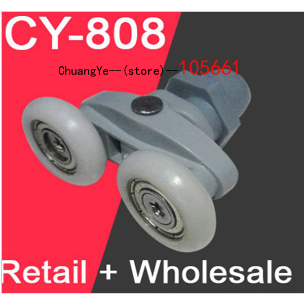 Shower room pulley bathroom roller glass door wheels arc shower room wheel 22mm-25mm shower rooms cabins pulley shower room double roller runners wheels pulleys diameter 26mm and 304 stainless