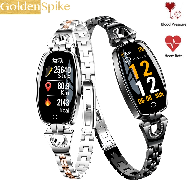 H8 Smart Watch Women 2019 Waterproof Heart Rate Monitoring Bluetooth For Android IOS Fitness Bracelet Smartwatch