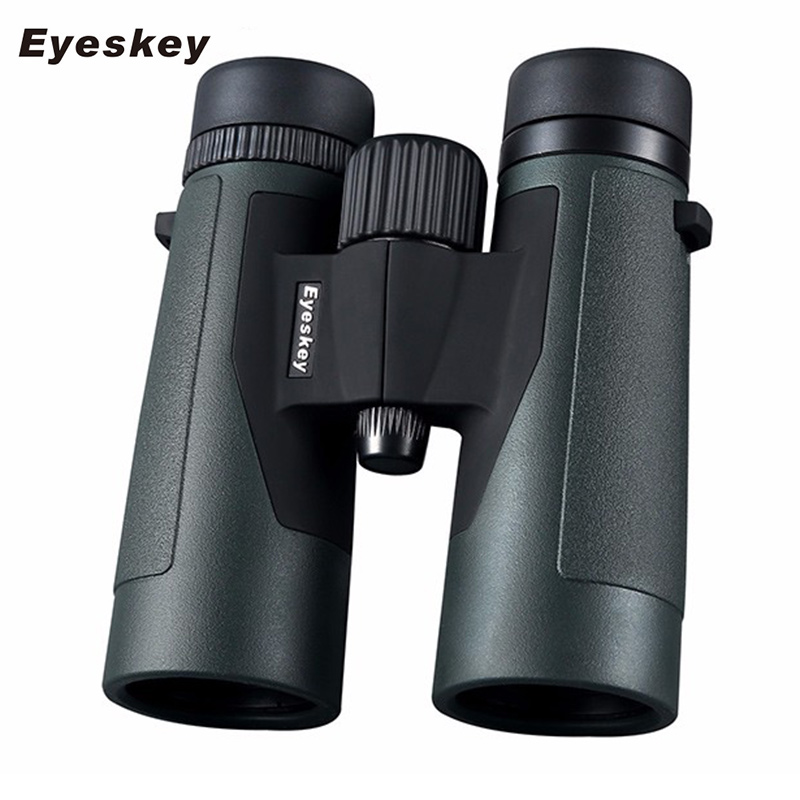 Eyeskey HD 10x42 Multi-color Powerful Binoculars with Bak4 Prism Telescope Professional Outdoor Sports Camping Hunting eyeskey 10x42 portable binoculars camping hunting telescope waterproof night vision tourism optical outdoor sports