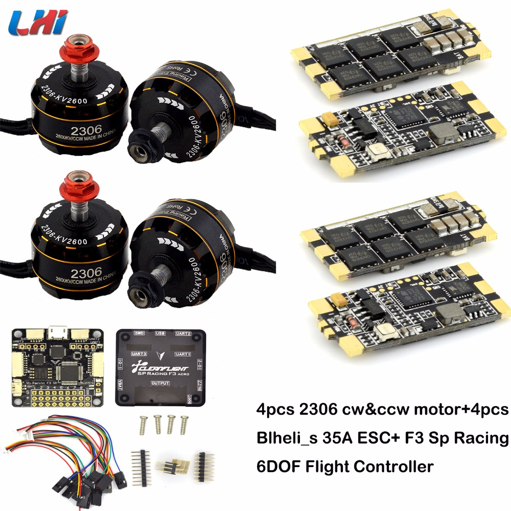 все цены на AIRBOT 35A esc Brushless 2306 Motor FPV kv2600 CW/CCW F3 OMNIBUS/F4 Racing Flight Controller for QAV Drone FPV Racing Quadcopter онлайн