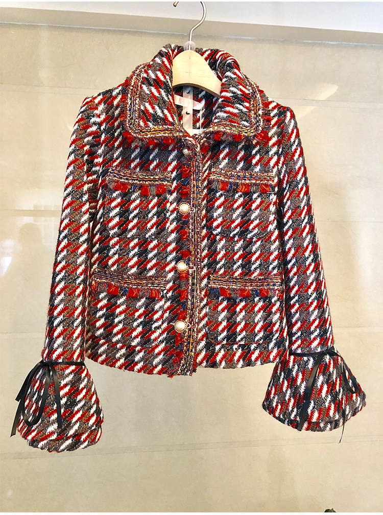 Skirt Suits Women Runway Luxury Designers Elegant Office Ladies Formal Tweed Blazer Jacket Coat Mini Skirt 2 Piece Sets Winter