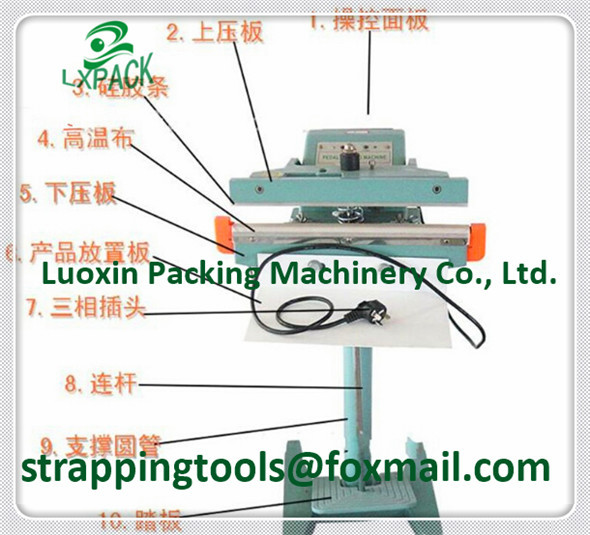 LX-PACK Lowest Factory Price Constant Heat Pedestal Sealers Pedestal Impulse Sealers Foot Pedal Operated Impulse Heat Sealers lx pack brand lowest factory price long hand sealers longer sealing length 20 26 30 40seal width matching film rollers