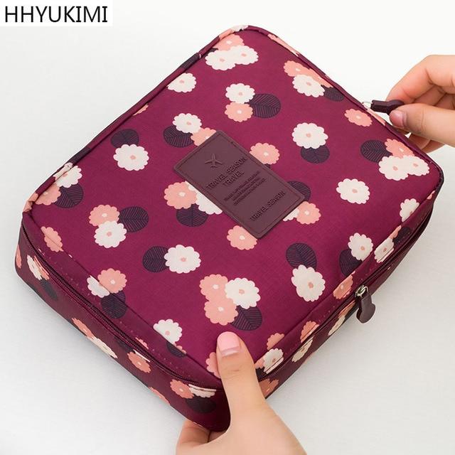 Hhyukimiファッション防水オックスフォード女性化粧ポーチ旅行ポータブル美容化粧品袋男性浴室トイレタリーウォッシュオーガナイザー