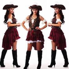 Disfraz de pirata para mujer, traje Sexy de talla grande para mujer, disfraz de Halloween para fiesta, Carnaval, disfraz de pirata Jack Sparrow para adulto