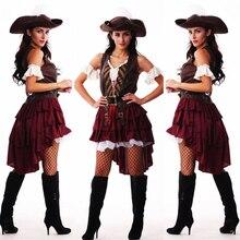 Gợi Cảm Nữ Cướp Biển Trang Phục Phụ Nữ Plus Size Nữ Halloween Lạ Mắt ĐẦM DỰ TIỆC Carnival Trưởng Thành Cướp Biển Jack Sparrow Trang Phục Hóa Trang