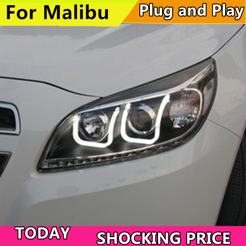2011-2014 année Phare de voiture Pour Chevrolet Malibu Phares LED Drl feux Bi-xénon Faisceau brouillard