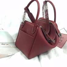 [Hely Coptar] Genuine Leather Vintage Style Fashion Women Bags Handbags 2Sizes Top-Handle Classic Designer Large Shopping Bag