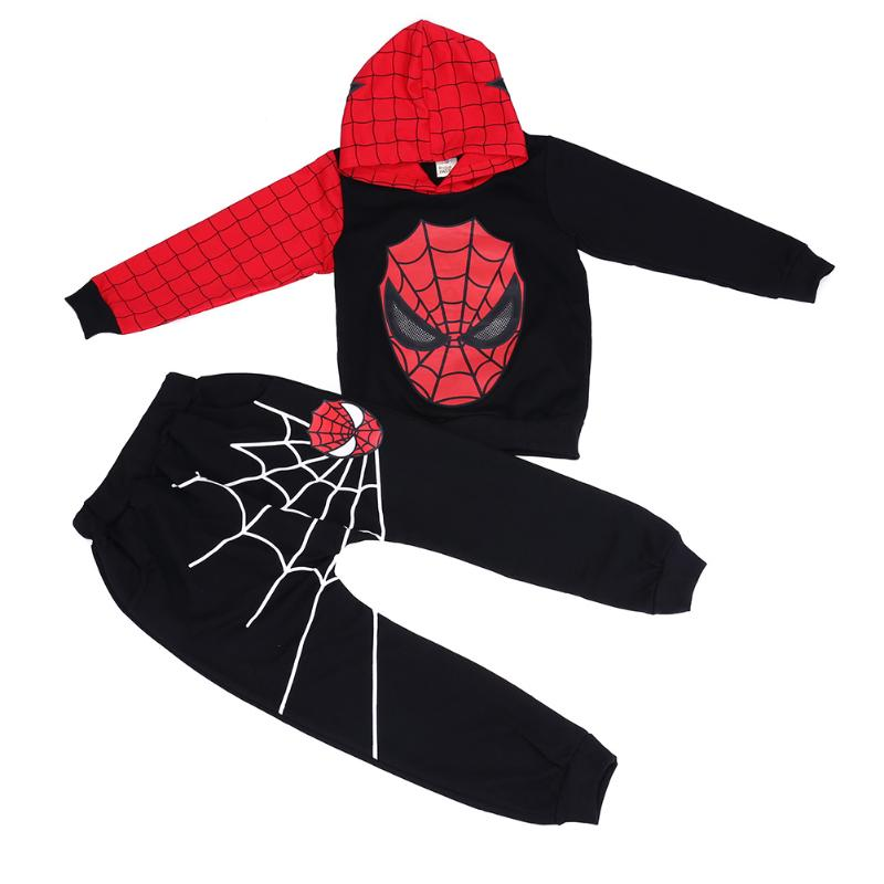 2018 Cool Boys Clothes Set Winter Children 2pcs Sports Hooded Sweatshirt Pants Trousers Warm Toddler Play Suit