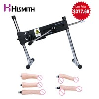 HISMITH Automatic Sex Machine with Powerful Motor 120W Turbo Gear Power with 5 dildos and Adapter Love Machine for Women