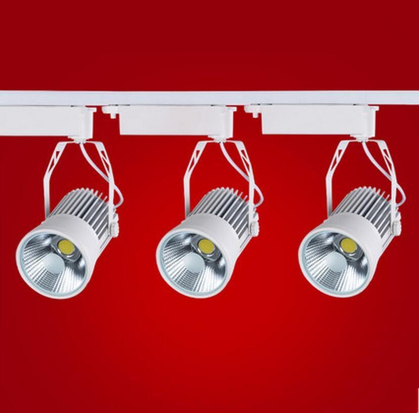 COB LED track light 30W white ceiling LED track spot light 30W LED rail light AC85 to 265V 30W COB LED track spotlight 30W led track light50wled exhibition hall cob track light to shoot the light clothing store to shoot the light window