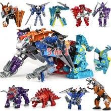 Children Gifts Assemble Dinozords Action Figure Kids Toy Transformation Dinosaur Robots Dragon Ranger Megazord