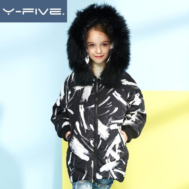 2019 children boy girl brand 90 down coat jacket -30 winter clothing detachable fur hooded jacket overcoat parkas outwear kids