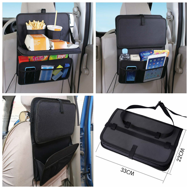 car seat storage bag auto multi pocket holder oxford black stowing tidying organizer for child