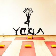 Yoga Meditation Sport Namaste Decal Vinyl Sticker Home Decor Studio Gym Girl Art Design Bedroom  Poster NY-416