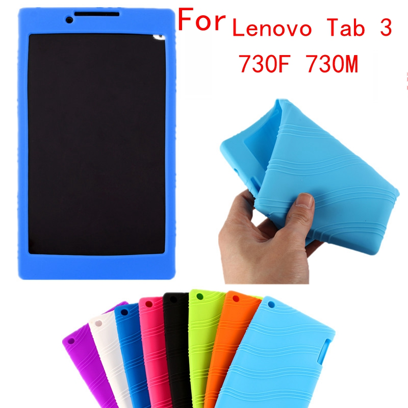 New Fashion Shell Ultra Slim Luxury Silicon Soft Cover Back Smart Silicone Case For Lenovo Tab 3 730F 730M 730X 7.0 inch Tablet for ipad mini4 cover high quality soft tpu rubber back case for ipad mini 4 silicone back cover semi transparent case shell skin