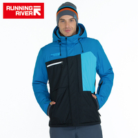 RUNNING RIVER Brand Men High Quality Ski Jacket Winter Warm Hooded Sports Jackets For Man Professional