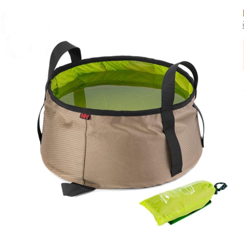 새로운 업 그레 이드 야외 접이식 캠핑 버킷 10L 피크닉 방수 접이식 버킷