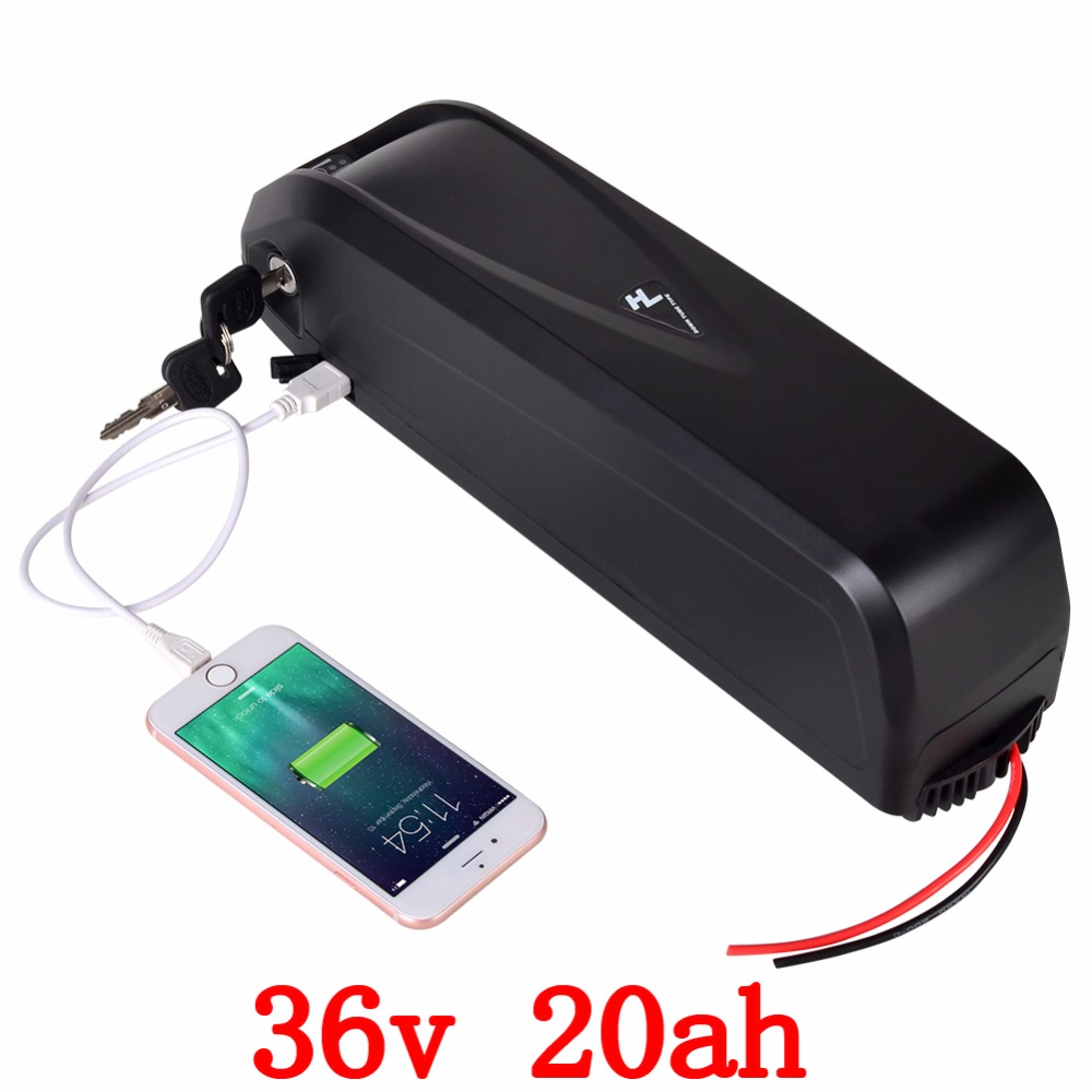 36V 1000W Hailong Down Tube Electric Bike Battery 36V 20AH Use For LG Cell Lithiumion Electric Bicycle Battery Pack With Charger