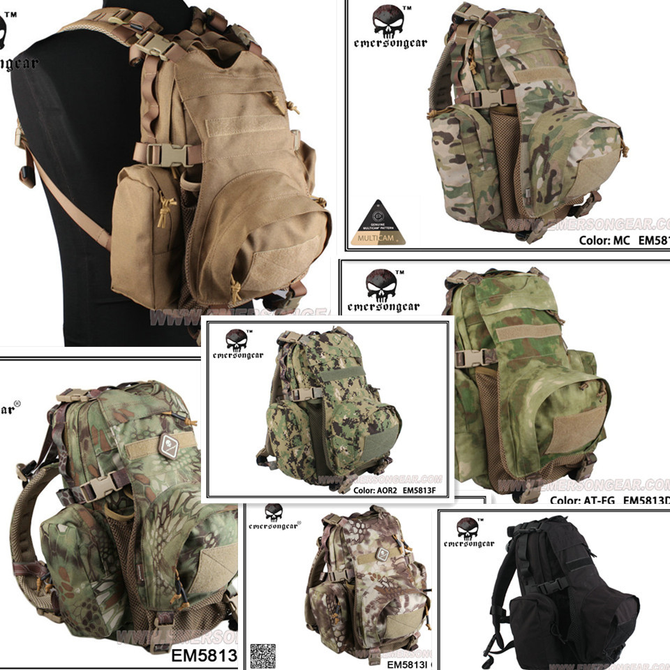 Emersongear Yote Hydration Military Travelling Multi-purpose molle backpack shoulder bag EM5813 emersongear lbt2649b hydration carrier for 1961ar molle backpack military tactical bags hunting bag multicam tropic arid black
