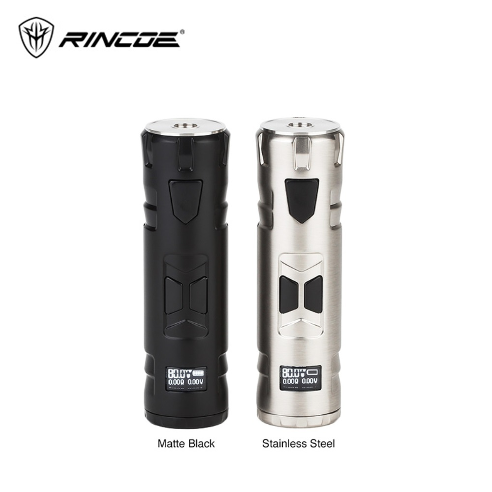 Original Rincoe Mechman 80W TC Box MOD Powered By 18650 Battery Various Protections Vape Vaporizer Vs Punk 86W / Cold Steel 100