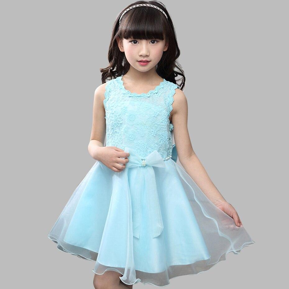 Girls Dress Summer Lace Flower Dress Girls Teenage Party Princess ...