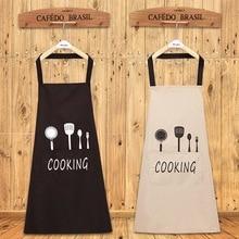 ליידי מים שמן הוכחת סינר בית מטבח שף סינרי מסעדת בישול אפיית שמלת אופנה סינר עם כיסים
