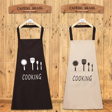 Senhora à prova de óleo água avental casa cozinha chef aventais restaurante cozinhar cozimento vestido moda avental com bolsos