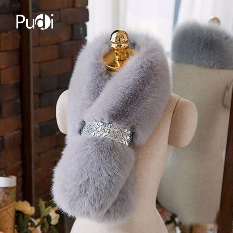 SCF032 The new women's   scarf   Real fox fur   scarf   women fashion genuine Fur   Scarves     Wrap   Neck Warmer Shawl Collar