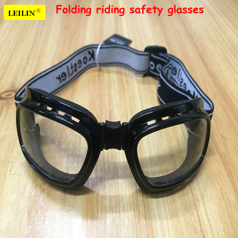 LEILIN protective goggles Foldable Sponge frame Comfortable cycling glasses Transparent models Anti-UV Anti-shock goggles сн888 mebelvia