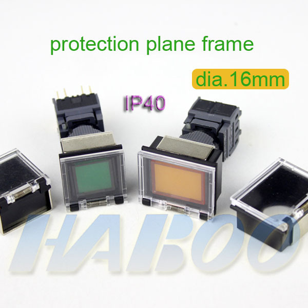 20pcs/lot HABOO series protection plane frame for dia.16mm push button switch IP40 protection frame ...