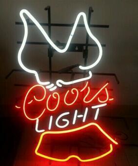 Custom  Coors Light Glass Neon Light Sign Beer Bar