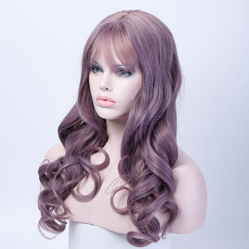 26 Long Wavy Wig Women Hairstyles Heat Resistant Synthetic Wigs For Women African American HairpiecesAOSIWIG