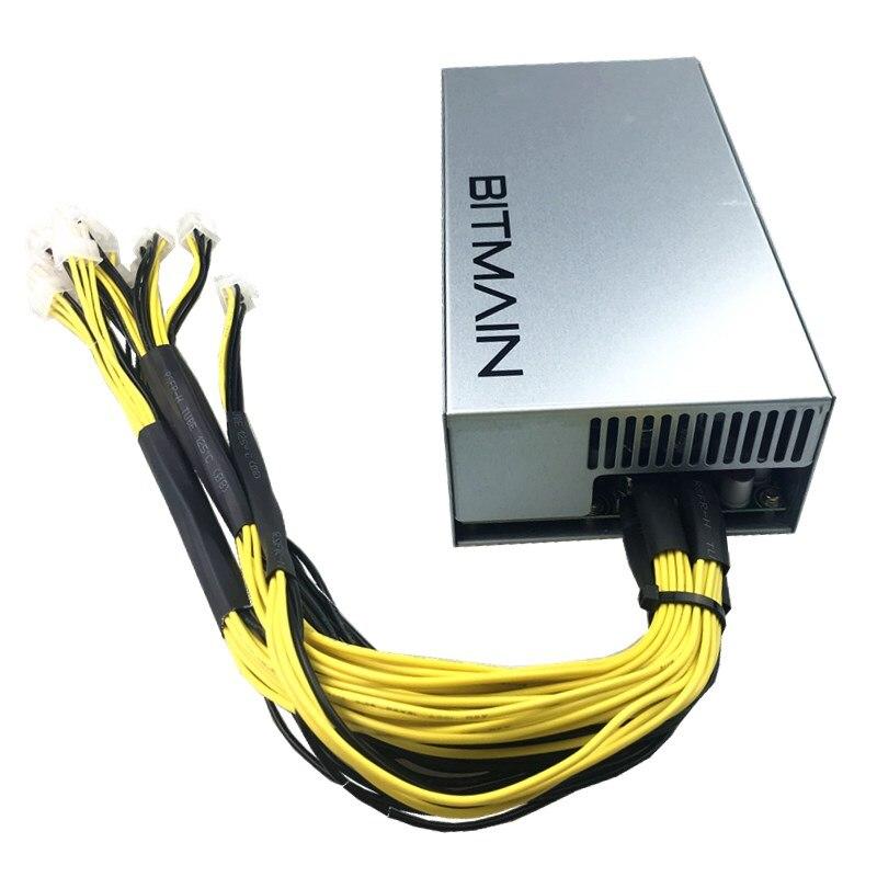 Or 92% alimentation de la Machine minière 1800 w pour Antminer S7 S9 L3 + D3 APW3 APW7 Bitcoin Antminer S9 S7 Bitcoin Miner PSU