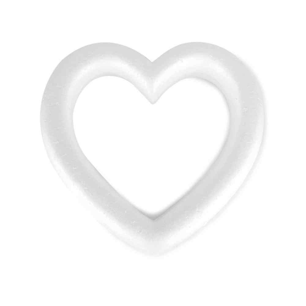 2019 Mới Hình Trái Tim Polystyrene Xốp Vòng Hoa Trắng Cho Thủ Công DIY Tiệc Cưới Tròn Trái Tim Tùy Chọn Decorations9.84 X 1.89