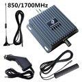 Celular 850 Mhz 1700 Mhz del repetidor repetidor coche GSM Mobile Booster de señal del amplificador de banda Dual