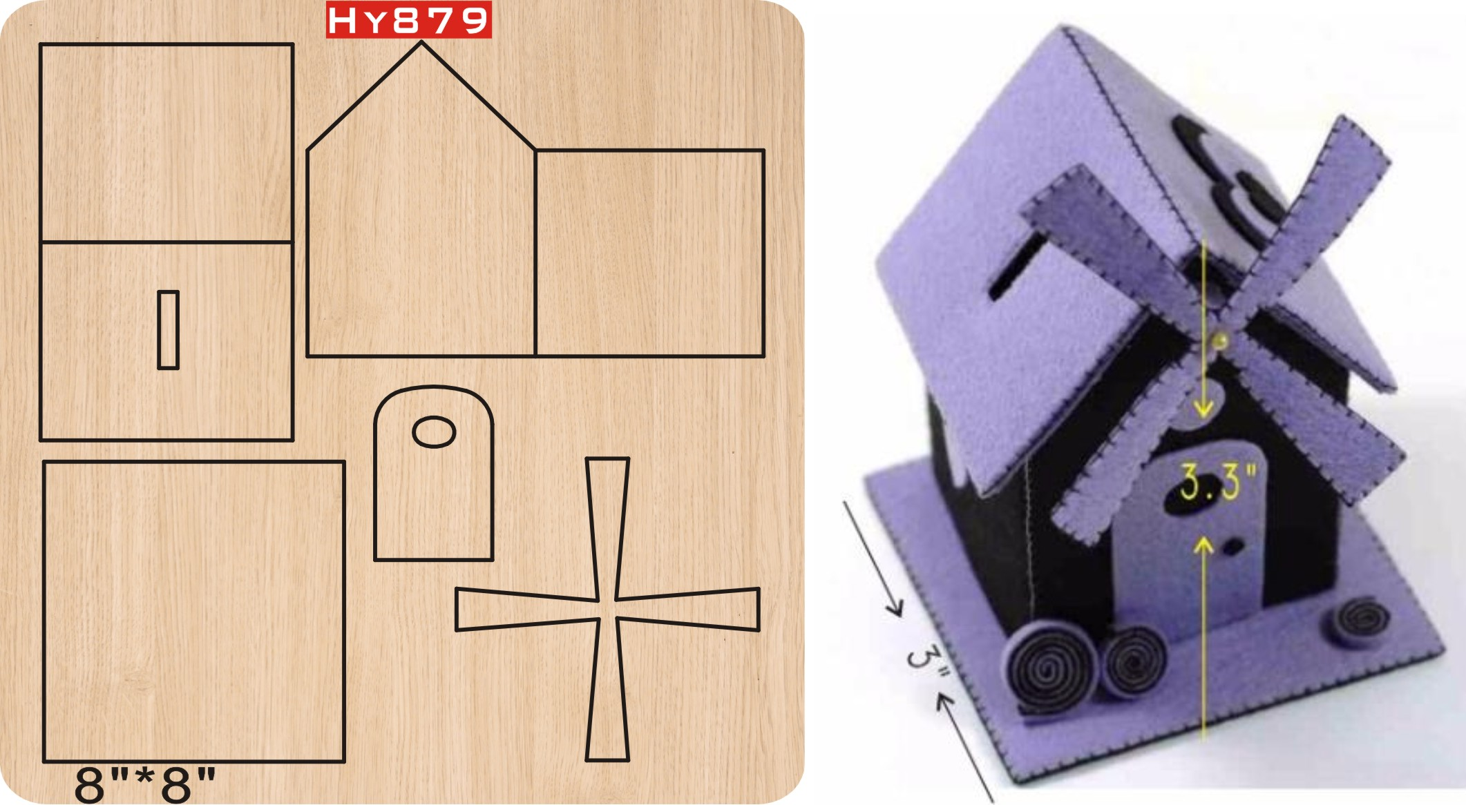 Windmill House Cutting Dies 2019 New Die Cut &wooden Dies Suitable  For Common Die Cutting  Machines On The Market